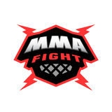 Mixed martial arts logo. Stock Photos