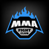 Mixed martial arts logo. Royalty Free Stock Images