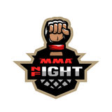 Mixed martial arts sport logo. Royalty Free Stock Image