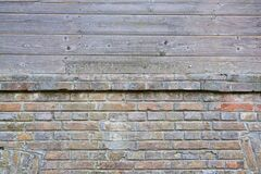 mixed material exterior wall Royalty Free Stock Photos