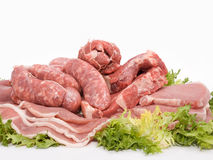 Mixed of meat Stock Photography