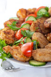 Mixed meat and vegetable platter Royalty Free Stock Photo