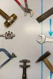 Mixed mechanic tools Royalty Free Stock Photography