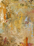 Mixed media on canvas Stock Images