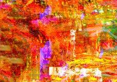 Mixed media on Canvas Royalty Free Stock Photos