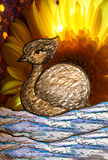 Mixed media Swan art Royalty Free Stock Images