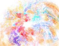 Mixed media texture, grunge halftone background Stock Photos