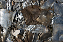 Mixed metal recycling royalty free stock photos