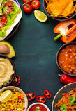 Mixed mexican food background Stock Photo
