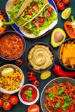 Mixed mexican food Royalty Free Stock Images
