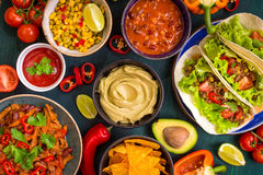 Mixed mexican food Royalty Free Stock Photos