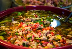 Mixed Mexican salad at a market royalty free stock images
