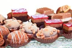 Mixed mini sweet canapes Stock Photography