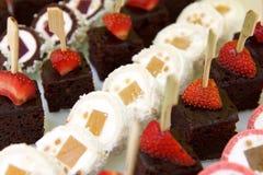 Mixed mini sweet canapes Royalty Free Stock Photography
