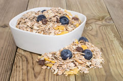 Mixed Muesli with Blueberries Royalty Free Stock Photo