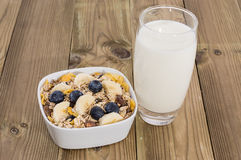Mixed Muesli with Nuts and Fruits Royalty Free Stock Images