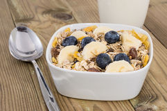 Mixed Muesli with Nuts and Fruits Stock Photos