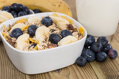 Mixed Muesli with Nuts and Fruits Stock Photography