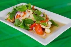 Mixed mushroom salad Stock Photos
