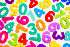 Mixed Numbers of Different Colours. Royalty Free Stock Photo