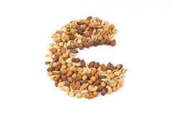 Mixed Nut Kernels in eat shape Royalty Free Stock Image