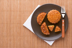 Mixed nut moon cake Royalty Free Stock Image