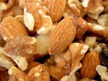 Mixed Nuts. Walnuts, almonds, nuts, peanuts Royalty Free Stock Photos