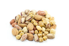 Mixed nuts. A variety of fresh mixed nuts Royalty Free Stock Photo