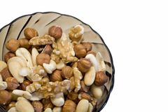 Mixed nuts. Almonds, hazel, cashew in a bowl Royalty Free Stock Photo