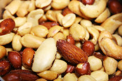 Mixed nuts. Close up image of fresh salty mixed nuts Stock Images