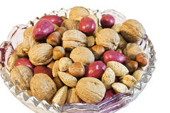 Mixed Nuts. Bowl full of mixed nuts for the holidays Stock Photography