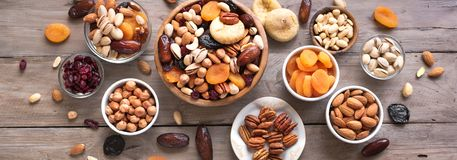 Free Mixed Nuts And Dried Fruits Royalty Free Stock Image - 144746886