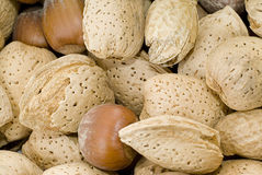 Mixed Nuts Background. Closeup view of a background consisting of mixed nuts Royalty Free Stock Photo