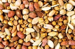 Mixed Nuts Background stock photography