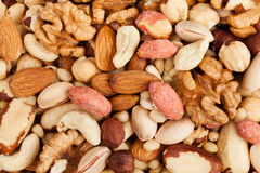 Mixed nuts background Stock Images
