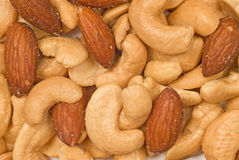 Mixed Nuts Background Stock Photos