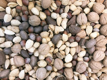Mixed Nuts Background Royalty Free Stock Photos