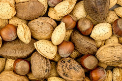 Mixed nuts background texture Royalty Free Stock Images