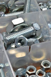 Mixed nuts and bolts Stock Images