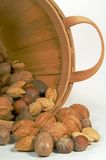 Mixed Nuts in a Bucket Stock Photography