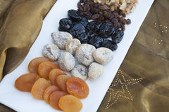 Mixed nuts at Christmas Royalty Free Stock Photos