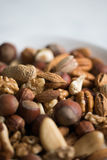 Mixed nuts close-up. Assorted nuts, close-up view Stock Photography