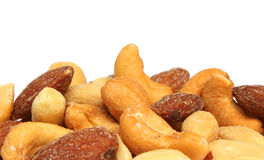 Mixed nuts closeup Royalty Free Stock Images