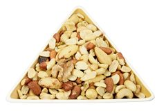 Mixed Nuts in Dish Royalty Free Stock Photography
