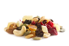 Mixed Nuts with Dried Fruit stock photography