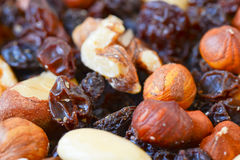 Mixed nuts and dried fruits Royalty Free Stock Photography