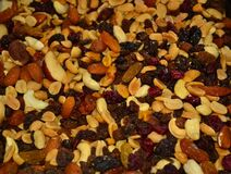 mixed-nuts-and-dried-fruits Royalty Free Stock Photos