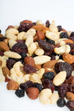 Mixed nuts and dried fruits Stock Images
