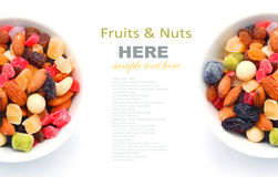 Mixed nuts and dry fruits in a bowl