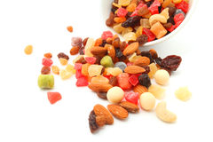 Mixed nuts and dry fruits Stock Photos